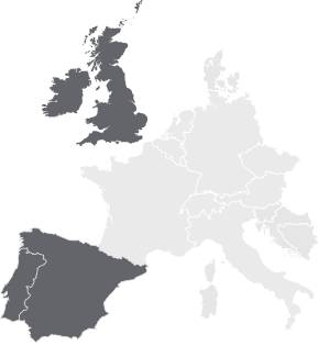 Europe Silhouette